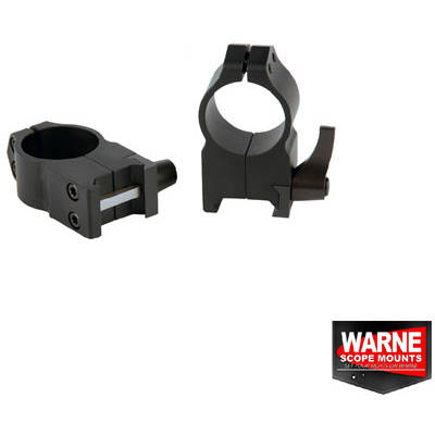 WARNE SCOPE MOUNTS SET RING QUICK WEAVER 30MM OBIECTIV 50-56MM