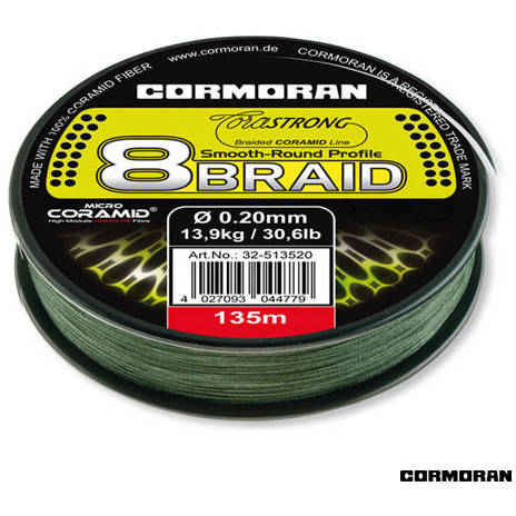 CORMORAN FIR CORASTRONG 8BRAID VERDE 030MM/25,2KG/135M