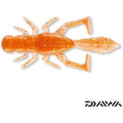 DAIWA NALUCA SOFT D.FIN BUG 5CM ORANGE/GOLD 10BUC/PLIC