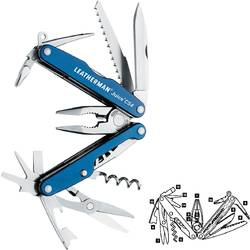 LEATHERMAN MULTIFUNCTIONAL JUICE CS4 BOX 70MM BLUE