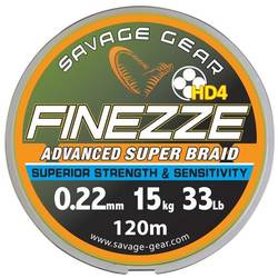 SAVAGE GEAR FIR TEXTIL FINESSE YELLOW 019MM.12,8KG 120M SAVAGE