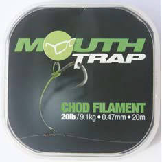 XX FIR MOUTH TRAP PT CHOD RIG 0.47MM/20LBS/20M KORDA