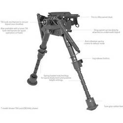 ARROW INT. BIPOD TACTIC 23-33 CM DEBEN