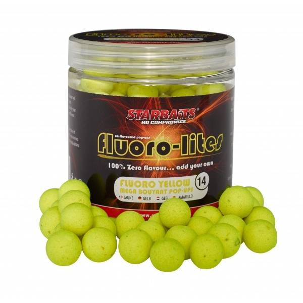 SENSAS POP-UP FLUORO LITE YELLOW D=14MM/80G STARBAITS