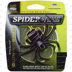 PURE FISHING XX FIR NEW SPIDERWIRE TEXTIL STEALTH GLOW 012MM 7,1KG 137M