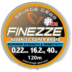 SAVAGE GEAR FIR TEXTIL FINEZZE HD8 040MM/36,3KG 120M