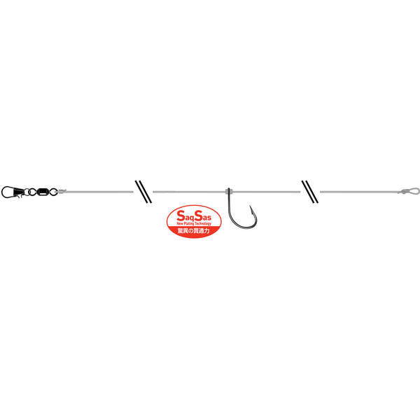 DAIWA MONTURA TOURNAMENT DROP SHOT RIG FFN NR.2/2BUC