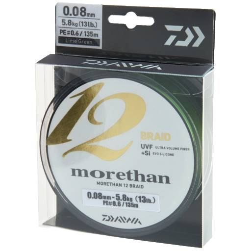 DAIWA FIR MORETHAN 12BRAID VERDE 008MM/5,8KG/135M