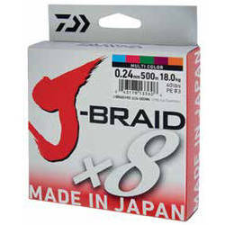 DAIWA J-BRAID X8 MULTICOLOR 016MM/9KG/150M