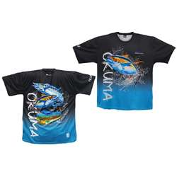 TRICOU OKUMA BLUE/BLACK MAR.2XL
