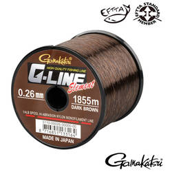 GAMAKATSU FIR G-LINE ELEMENT DARK BROWN 028MM.5,90KG.1490M