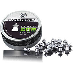 munitie aer comprimat RWS CUTIE METAL 100 FIELD LINE POWER PIERCING 5,5MM 0,89G