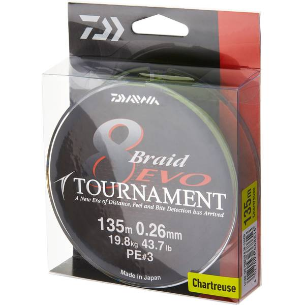DAIWA TOURNAMENT X8 EVO CHARTREUSE 012MM/8,6KG/135M