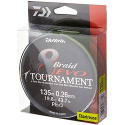 DAIWA TOURNAMENT X8 EVO CHARTREUSE 018MM/15,8KG/135M