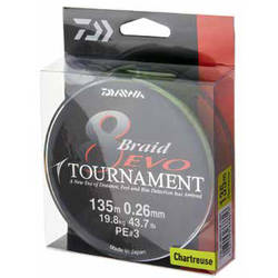 DAIWA TOURNAMENT X8 EVO CHARTREUSE 008MM/4,9KG/135M