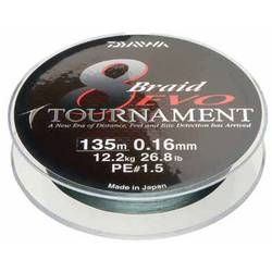 DAIWA TOURNAMENT X8 EVO DARK GREEN 020MM/18,0KG/300M