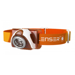XX LANTERNA CAP LED LENSER SEO3 ORANGE 90LM 3XAAA