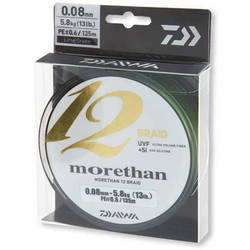 FIR DAIWA MORETHAN 12BRAID 016MM/14KG/135M VERDE