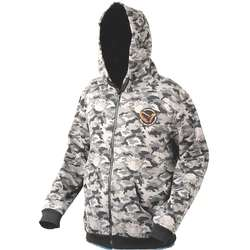 SAVAGE GEAR HANORAC BLACK CAMO ZIP MAR.XL