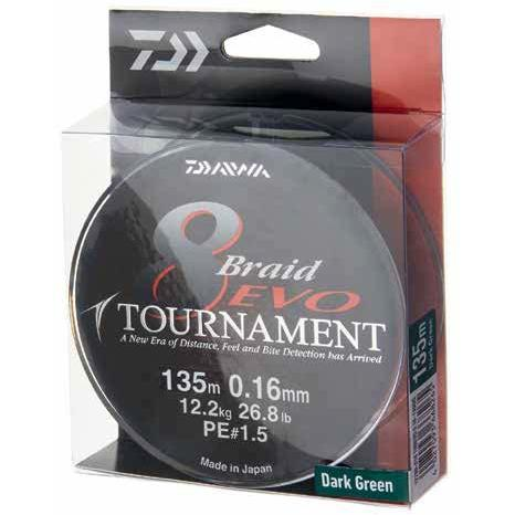 XX FIR DAIWA TOURNAMENT X8 EVO DARK GREEN 012MM/8,6KG/300M