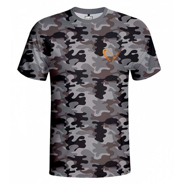 SAVAGE GEAR TRICOU SIMPLY SAVAGE CAMO MAR.S