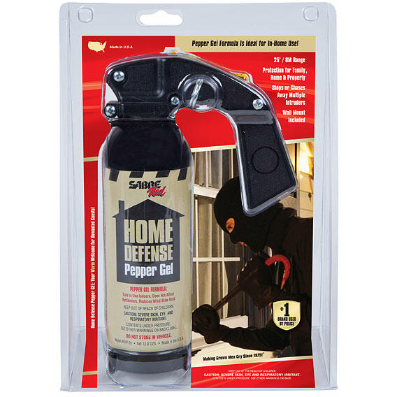 SABRE SPRAY AUTOAPARARE HOME DEFENSE PEPPER GEL 368G + SUPORT