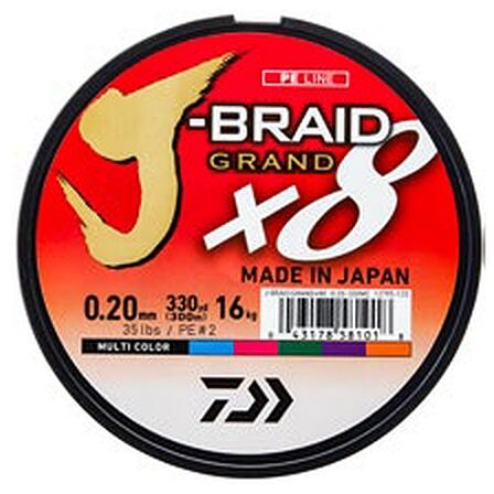 XX FIR DAIWA J-BRAID GRAND X8 COLOR 010MM/7KG/150M