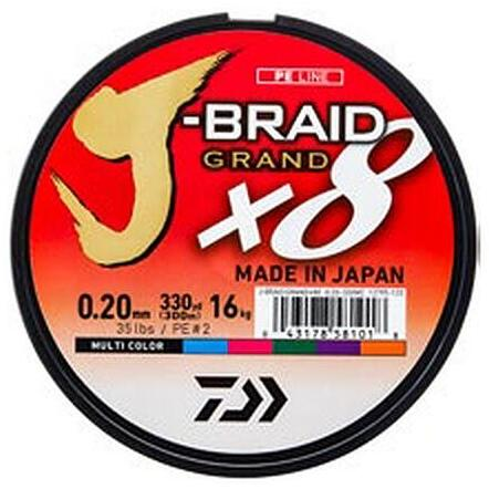 XX FIR DAIWA J-BRAID GRAND X8 COLOR 022MM/19,5KG/150M