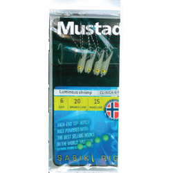 MUSTAD TAPARINA LUMINOUS SHRIMP NR.4 4BUC/PL
