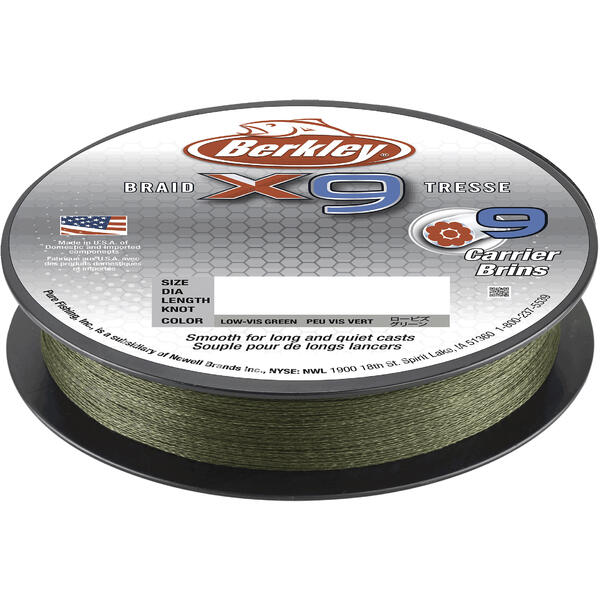 BERKLEY TEXTIL X9 LOW VIS VERDE 025MM/27KG/150M