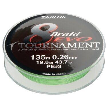 DAIWA FIR TOURNAMENT X8 EVO CHART 020MM/18,0KG/1000M