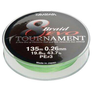 XX FIR DAIWA TOURNAMENT X8 EVO CHART 016MM/12,2KG/1000M