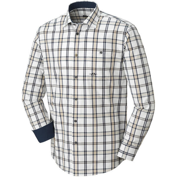 BLASER CAMASA OXFORD MODERN FIT BEJ/BLUE/BROWN MAR.2XL