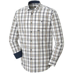 BLASER CAMASA OXFORD MODERN FIT BEJ/BLUE/BROWN MAR.XL