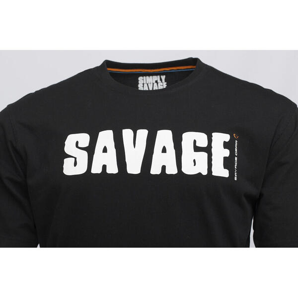 SAVAGE GEAR TRICOU SIMPLY BLACK LOGO-TEE MAR.2XL