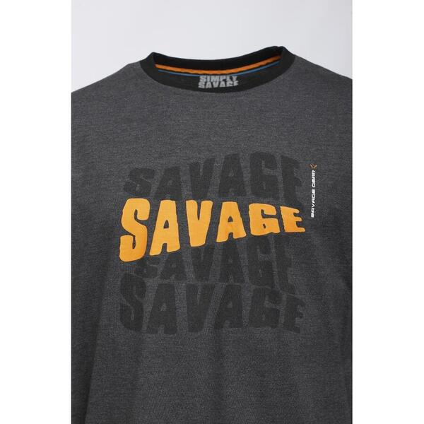 SAVAGE GEAR TRICOU SIMPLY LOGO-TEE LONG SLEEVE MAR.2XL
