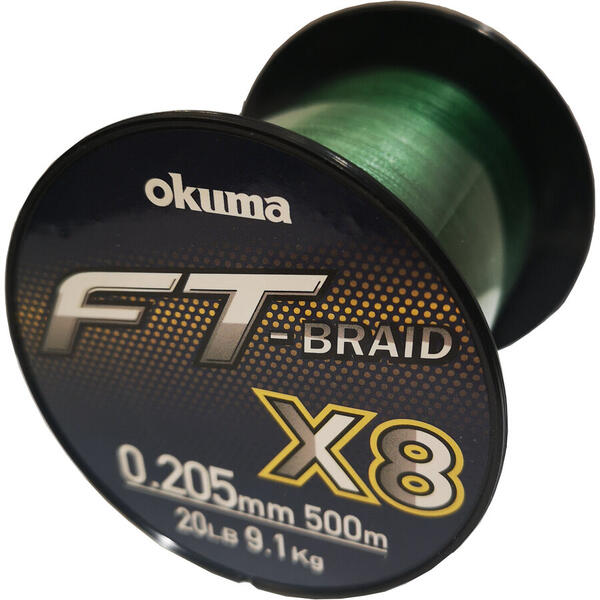 OKUMA FT BRAID X8 GREEN 0235MM/25LBS , 11,4KG/500M