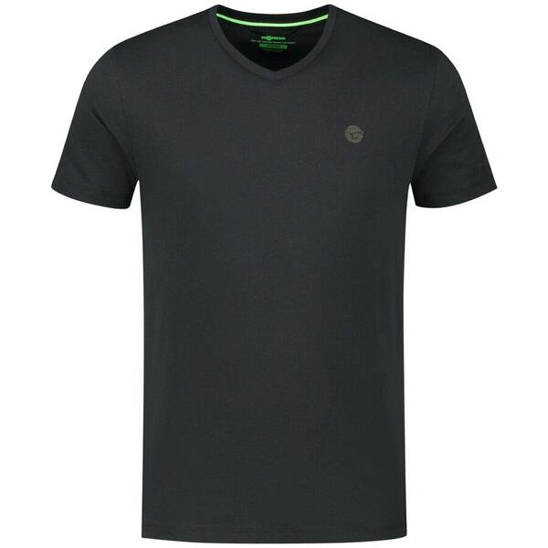 KORDA TRICOU V NECK BLACK MAR.XL