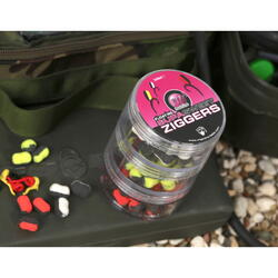 KORDA ZIGGERS MAINLINE WHITE/BLACK,YELLOW/BLACK, RED/BLACK