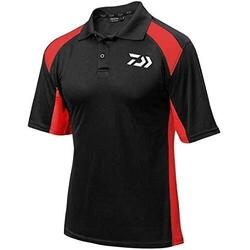 DAIWA TRICOU POLO TOURNAMENT NEGRU/ROSU MAR.L
