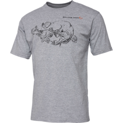 SAVAGE GEAR TRICOU CANNIBAL INK GREY MELANGE MAR.XL