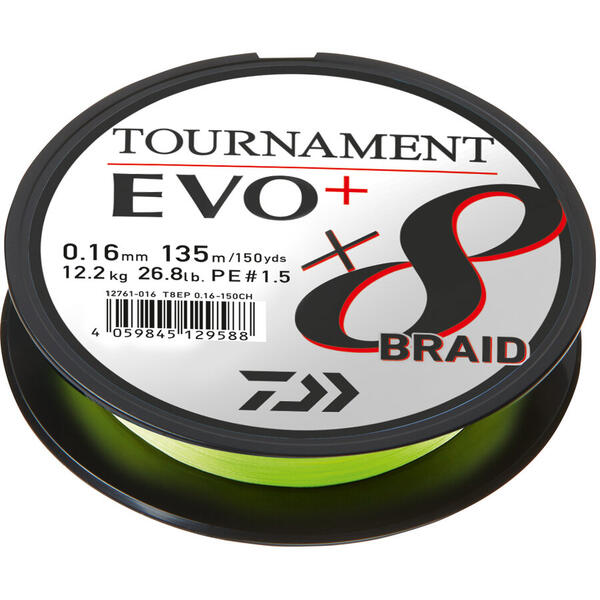 DAIWA TOURNAMENT 8XBRAID EVO+ CHART. 026MM/4,9KG/135M
